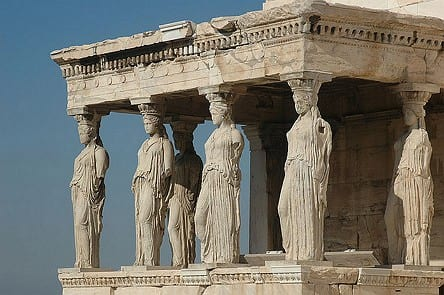 Cariátides, Acrópolis de Atenas