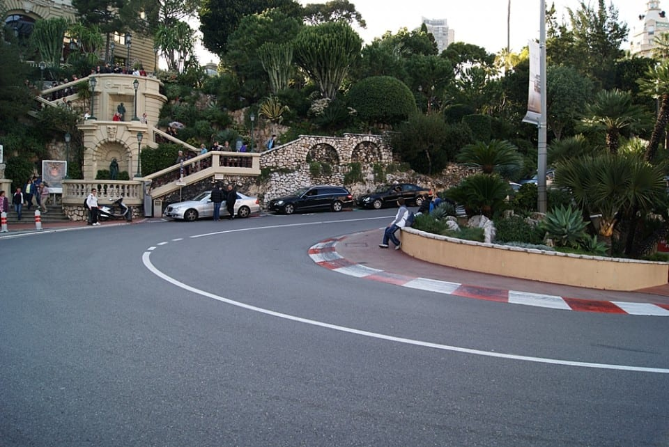 Curva Fórmula 1 Grand Prix de Monte Carlo