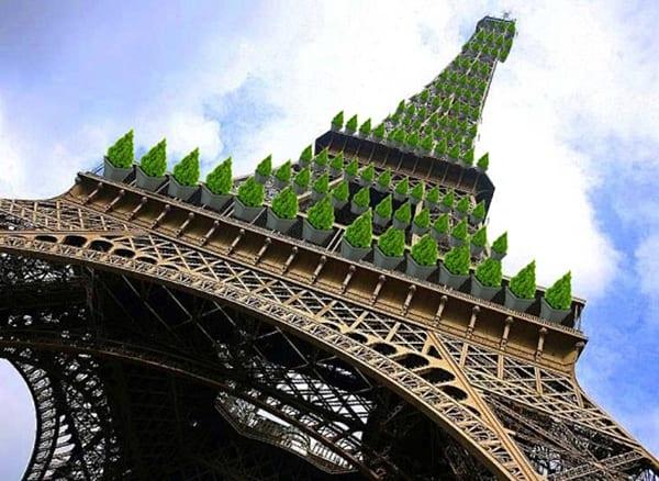 Torre Eiffel y su futuro jardín