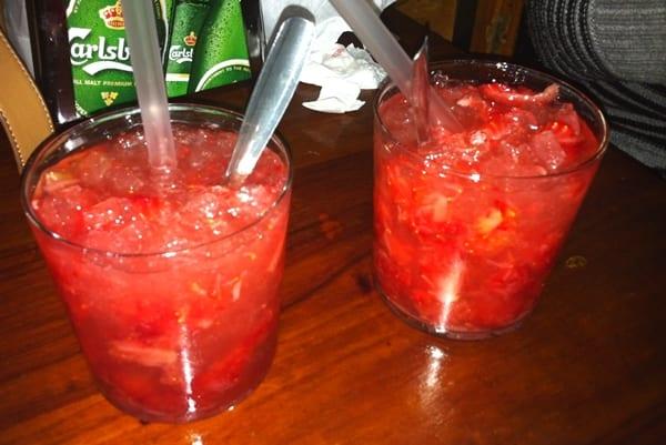 caipiroskas de fresa
