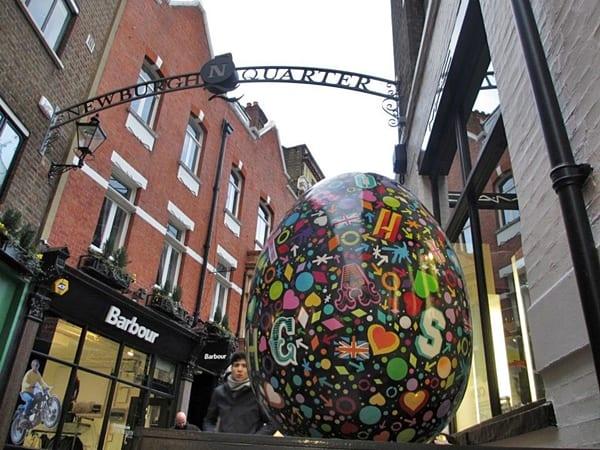 huevos de Pascua, Londres