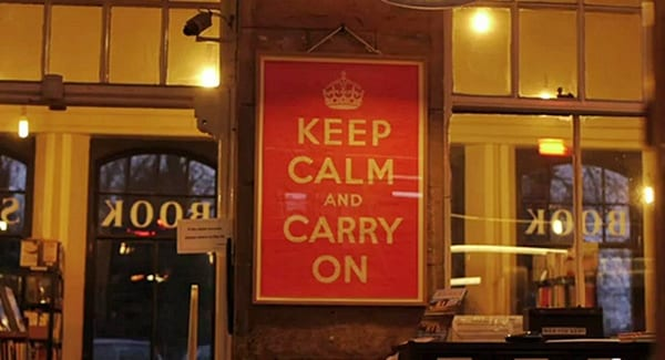 Barter Books, Keep Calm and Carry ON