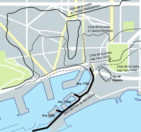 mapa de la isla de Maians