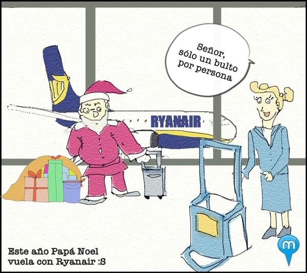 Papá Noel con Ryanair