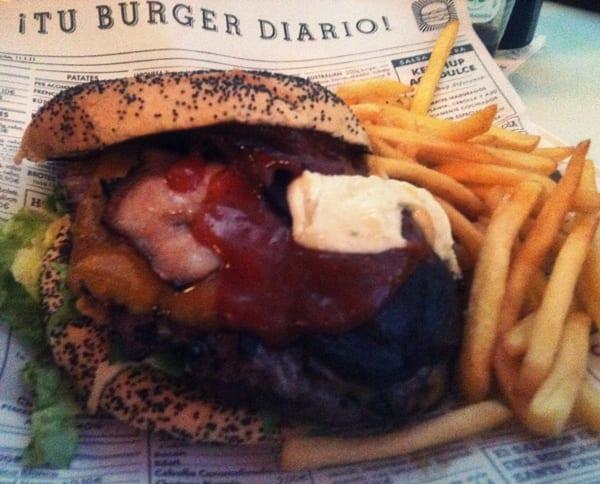hamburguesa Australia, el Kiosko