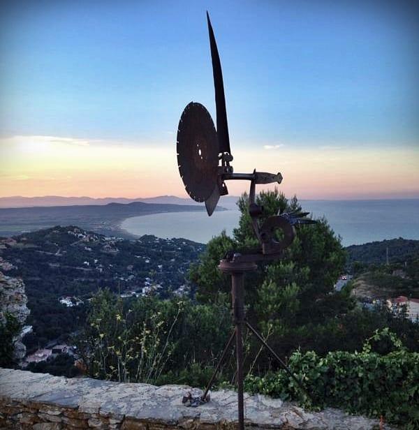 Vistas desde el castillo de Begur, Costa Brava