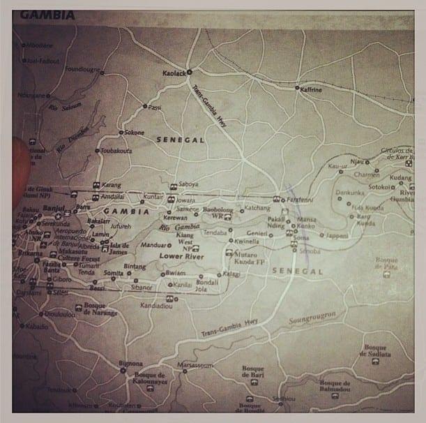 Mapa de gambia