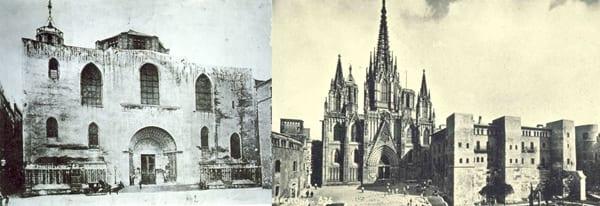 Catedral de Barcelona, el antes y el después