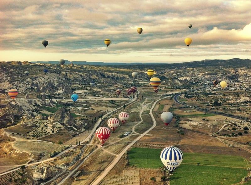 viaje en globo por la capadocia, Turquía