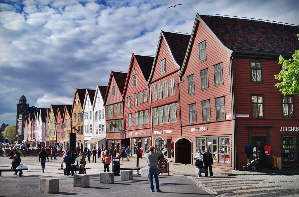 Bryggen, Bergen, Fiordos noruegos