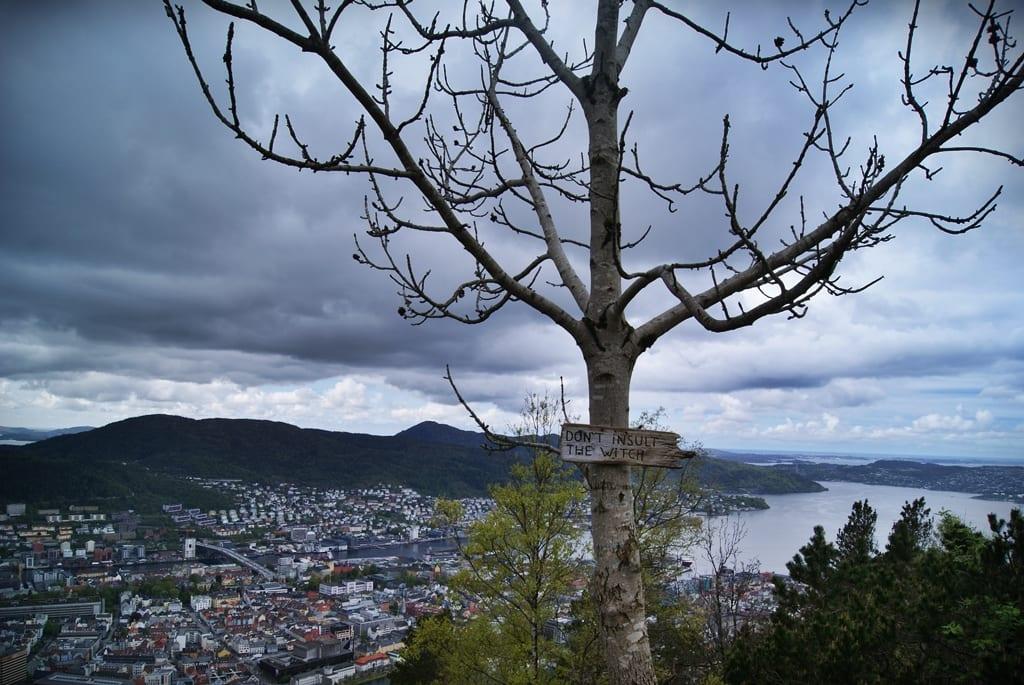 Vistas desde Floyen, bergen