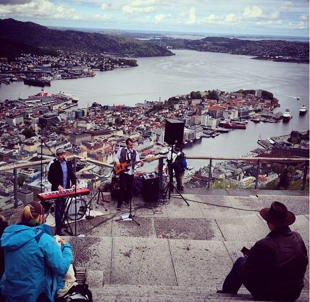 Vistas de Bergen desde Floyen