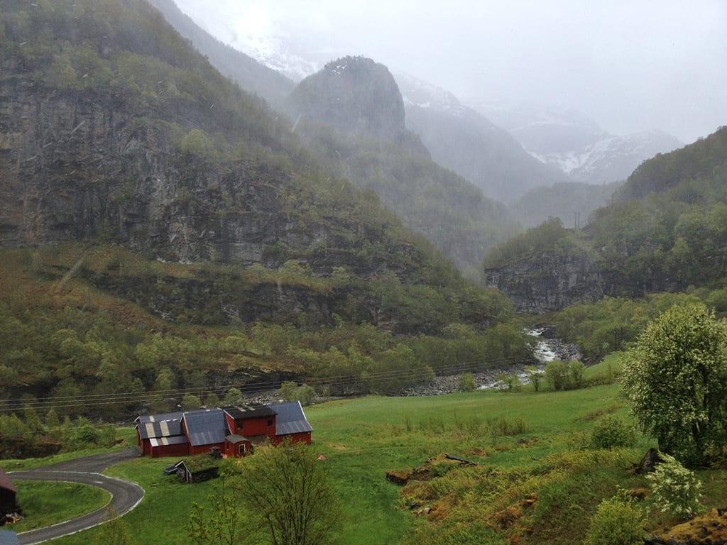 Vistas desde el Flåmsbana, Noruega