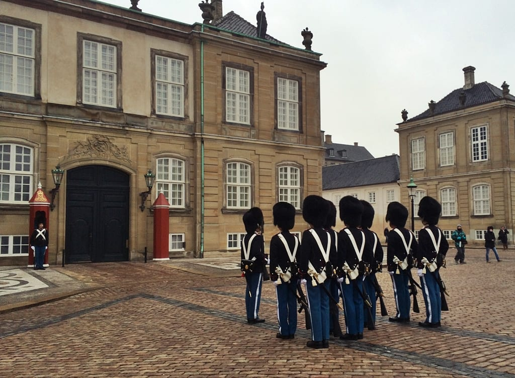 Copenhague, cambio de guardia