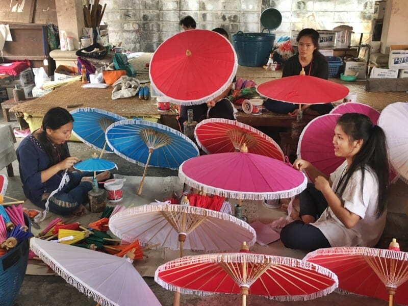 Bo sang umbrella village